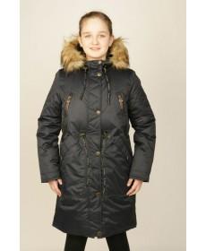 Пальто утеплённое для девочки  YOOT-7126