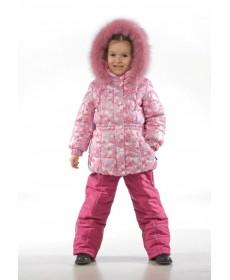 Комплект утепленный для девочки  (пальто+полукомбинезон)  SAIMA-2669-2