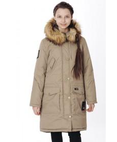 Пальто утеплённое для девочки  YOOT-7150-1